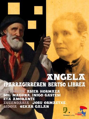 Angela, Iparragirreren bertso askea